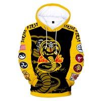 2020 Novo Karate Menino Hoodie 3D Impressão Digital Moda Trend Men's Sweater Com Capuz
