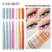 Handaiyan 20 Farbe Matte Eyeliner Gel Bleistift Leicht zu tragen Bunte Weiß Gelb Blaue Augeneinlagen Stift Creme Makeup Kosmetik
