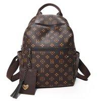 الطباعة الكلاسيكية حقيبة 2020 بو الجلود مصمم حقيبة مع شرابة الفاخرة حقيبة الظهر جودة عالية النساء حقائب A1113