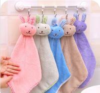 Handtücher Süße Korallen Samt Kaninchen Modellierung Handtuch Küchentücher Cartoon Sauberes Handtuch Wischen Sie das Tuch Kerchif Trockene Handtücher DWB3493
