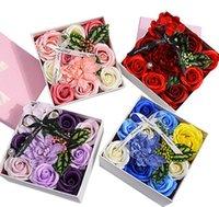 Yenilikçi Yeni Stil Sabun Çiçek Kutusu İşleme Özel Sevgililer Günü Noel Gül Hediye Ile Hediye Kutusu