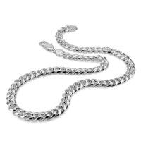 حقيقي 100٪ الفضة الاسترليني الرجال قلادة الهيب هوب فاسق نمط سلسلة قلادة أزياء الرجال / الصبي 925 الفضة والمجوهرات pendan LJ201009