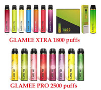 100 % Origianl Glamee Xtra 일회용 담배 포드 장치 1800 퍼프 1200mAh 5.8ml 5 % 가락