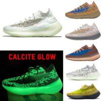 ABD 13 380 Kalsit Glow Kadın Erkek Koşu Ayakkabıları Biber Yansıtıcı Alien Mist Lmnte Biber Mavi Yulaf Azure 380 Sneaker Yansıtıcı Spor Ayakkabı