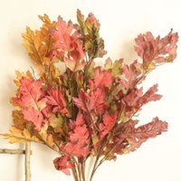 7 pcs artificiais frutas folhas ramo planta de seda para casa decoração acessórios de outono árvore falsa folha folha de casamento decoração de jardim