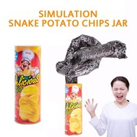 Party Masken Spoof Kartoffel-Chip-Schlangen, die Ganze Person erschrocken erschrockenes Eimerspielzeug