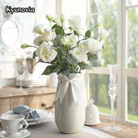 Kyunovia Gardenia Yapay Çiçekler İpek Simülasyon Platycodon Grandiflorum Botanik Bitki Ev Düğün Dekorasyon H02