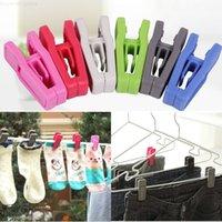 RESUBLE TIE CLIP Universal Hojas y secas Perchas de ropa fácil de usar ABS PLÁSTICO PLÁSTICA PINAPIN NO TRACE