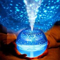 500ml USB Crystal Lámpara de noche Proyector Humidificador de aire Desktop Difusor Difusor Ultrasónico Mistal fabricante LED noche de luz para el hogar Y200113