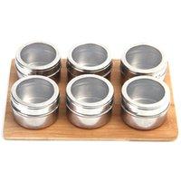 Stockage Bouteille Assaisonnement peut Sel Poivre Cuisine Barbecue Cuisine Essentielles extérieur portable Réservoir en acier inoxydable peut CYF4555-3