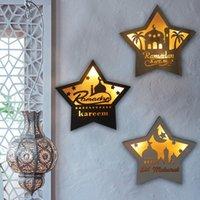 EID Mubarak Пятиконечная звезда светодиодные ночные светлые стены висит EID вечеринки поставляет рамадан декор мусульманский исламский декор