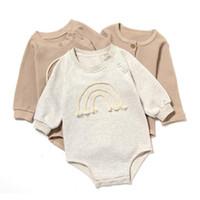 Jumpsuit nouveau-né Triangle à manches longues Triangle HA Vêtements Baby Romper costume Pure Spring et Automne bébé grimpons vêtements zyy461