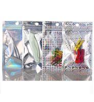 Sacchetti di plastica Pacchetto 20x30 cm Laser in alluminio Lampo Zip Blocco Imballaggio Borse da imballaggio anteriore trasparente Plastica Plastica Mylar Pellicola Drysaltery Profented Tè Borsa da imballaggio