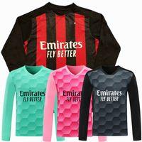 2020 2021 AC с длинным рукавом футбол для футболки Rubic Brahim Donnarumma Theo Kessie Calhanoglu ibrahimovic Milan футбол полная рубашка
