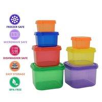 Porsiyon Kontrol Kapları 7 adet Koruma Kutusu Kiti Kilo Vermek İçin Kolay Yolu Fitness Egzersiz Gıda Depolama Plastik Konteyner BBA317 Hayır