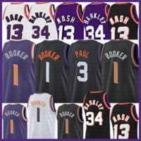 2021 Nouveau Devin 1 Booker Jersey Basketball Chris Mens 3 Paul Maches Retro Steve 13 Nash pas cher Charles 34 Barkley Jeunes enfants Brown