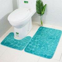 Bad Zubehör Set 2 teile / satz Trichter Kopfsteinpflaster Badezimmer Anti-Rutsch Carpet Matte Toilette Teppich Zubehör
