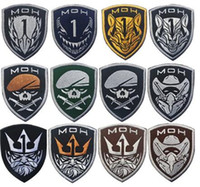 Accessori da caccia Patch Honor Medal of Honor Moh King Eagle Wolf Skull Tactical Military Patch Army Ricamo Badges nero