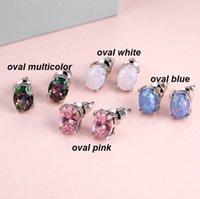 Meilleure vente Haute Qualité Basse prix Dames Open Boucles d'oreilles ovales Oval avec boucles d'oreilles Diamond Studings Accessoires de mode