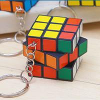 2021 Keychain Mind Spiel Rubik's Cube Keychain Dritter Rubik's Cube Key Anhänger Heißer Verkauf Erwachsene Kinder Schlüsselanhänger Auf Lager
