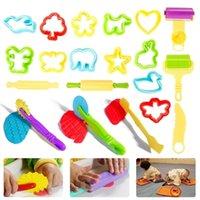 20 pcs DIY Molde de Plasticina Modelagem Kit de Argila Slime Jogo Play Play Ferramentas De Massa Definidos Moldes Brinquedo Para Crianças Gift Gift 201226
