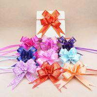 3 سنتيمتر اليد مرسومة زهرة هدية التغليف لوازم فراشة هدية الزفاف التفاف الشريط 10 قطعة / الحقيبة نمط مختلط إرسال XD24466