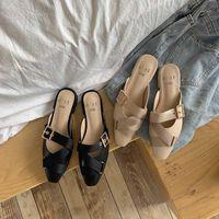 Тапочки Летняя обувь Прибытие Женщина Богемский тростник Rattan Sandals Solides Chaussures Femme Chanclas Mujer1