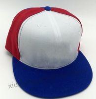 2021 Özel Beyaz Mavi Kırmızı Renk Beyzbol Spor Gömme Kap Erkekler Kadın Tam Kapalı Kapaklar Rahat Eğlence Expos Düz Basball Büyük Boy Şapkalar