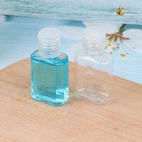 30 ملليلتر اليد المطهر الحيوانات الأليفة زجاجة بلاستيكية مع فليب أعلى كاب واضح زجاجة شكل مربع لمستحضرات التجميل المتاح المطهر اليد CCD3565
