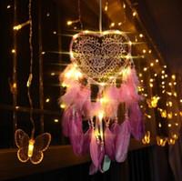 أدى ضوء يدويقي dreamcatcher الرياح الدقات اليدوية حلم الماسك صافي الريش شنقا dreamcatcher الحرفية هدية المنزل الديكور YYS3909