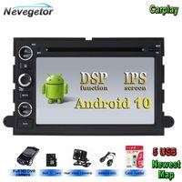 Android 10 Car Multimedia Player для 500 / F150 / Explorer / Edge / Expedition / Mustang / Fusion / Freestyle GPS-радио стерео автомобильный DVD