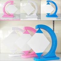 융합 유리 그림 프레임 승화 빈 사진 홀더 DIY 인쇄 된 사변형 프레임 스윙 랙 침실 장식 14 5hy G2