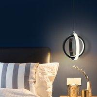 Nordic Bedside Pequeno Candelabro Luzes Quarto Simples Single Cabeça Cabeça Ligação Quarto Quarto Quarto LED Pingente Lâmpadas