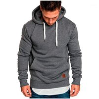 SweatShirt Fitness Hommes Automne Solide Workout Sweats Hoodies Men1