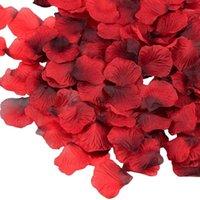 7000 조각 진한 빨간색 실크 장미 꽃잎 발렌타인 데이에 대 한 인공 꽃 꽃잎 결혼식 꽃 장식 1