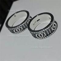 2020 Ювелирные Изделия Мужчины / Женщины Мода Роскошный Кольцо Золотая Пара Кольцо S925 Высокополированный Кольцо Подарочная коробка A2