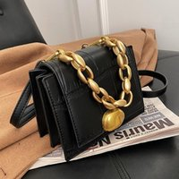 VeryMe Retro Designer PU Leather Crossbody Bags 2021 Quality Thick Chain Messenger Bags Luxury Handbag And Purse sac femme luxe