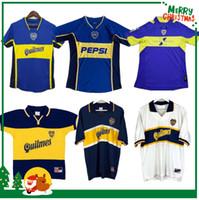Boca Juniors 1981 1995 1996 1997 1998 1998 1999 2000 2000 2002 2003 2004 ريترو لكرة القدم الفانيلة رومان مارادونا خمر كلاسيك لكرة القدم قميص