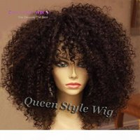 Mongolian afro kinky lockig volle vordere spitze perücke synthetische schwarz 1b farbe kinky lockige haar spitze frontperücken für schwarze frau