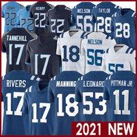 53 داريوس ليونارد 18 Peyton Manning 17 Nexip Rivers 28 Jonathan Taylor 11 Michael Pittman JR 56 Quenton Nelson Football Jerseys