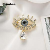 Pomlee Eye Форма Кристалл Брошь Нео-Готические Женщины Аксессуары Корейский модный сплав Блузка медицина Медицина Femme Broches Para Ropa