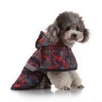 المعطف الكلب مع غطاء عاكس للماء الصقيع الكلب المطر الرأس عباءة الصيف الحيوانات الأليفة الكلب الملابس الإرادة ساندي هبوط السفينة