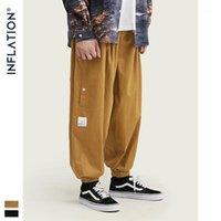 Diseño de inflación Hombres Pantalones de pierna ancha Pantalones de otoño Hombres Hombres Pantalones holgados Fox Fit Pure Color Streetwear Cargo suelto 93447W1