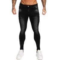 Gingtto Marka Kot Erkekler Streç Pantolon Yüksek Bel erkek Skinny Kot Siyah Klasik Pamuk Denim Rahat Yumuşak Tam Boy ZM12 201111