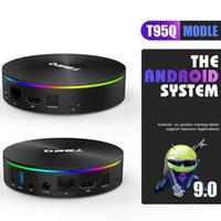 T95Q Android 9.0 TV BOX AMLOGIC S905X3 4GB 32GB / 64GB 2.4G 5GHz Dual WiFi Bluetooth 4K BLUETOOTH BACK BOX VS X96 MAX