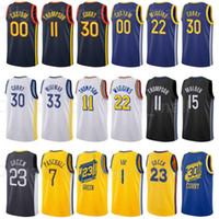 Şehir Kazanılan Baskı Baskılı Basketbol Stephen 30 Köri Jersey Klay 11 Thompson Draymond 23 Yeşil Andrew 22 Wiggins Wiseman 33 Özel Ad