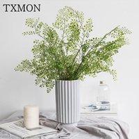 TXMON SIMULATION Anlagen Schwarz Knochen Awn Blätter Frische Kunststoff Künstliche Blume Dekoration Gefälschte Blütenkabel Farn Green Pflanzen