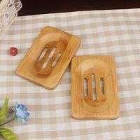 Натуральная бамбуковая древесина для мыла для мыла Деревянное мыло Держатель для мыла Лоток для хранения блюдо хранения пластины контейнер для ванной Душевая ванная комната KKB3308