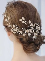 Nuove foglie e floreale Bridal Fascia Bohemian Headpiece Crystal Pearl Hair Vine Flower Halo Wedding Hair Accessori per capelli