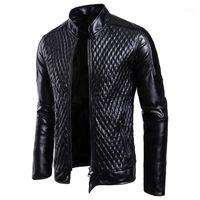 Moda hombres motocicleta PU chaquetas de cuero hombres cuero otoño invierno delgado ajuste chaquetas masculino negocio fitness casual Outwear abrigos11